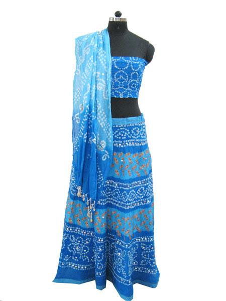 Blue and Turquoise Lehenga Choli Set