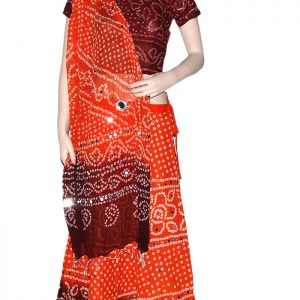 Orange & Brown Lehenga Choli