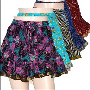 BLOCK PRINT SHORT SKIRTS