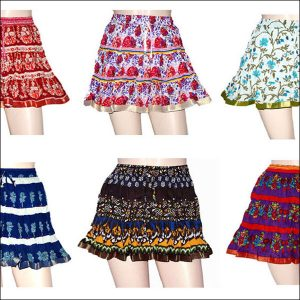HAND BLOCK PRINT MINI SKIRT