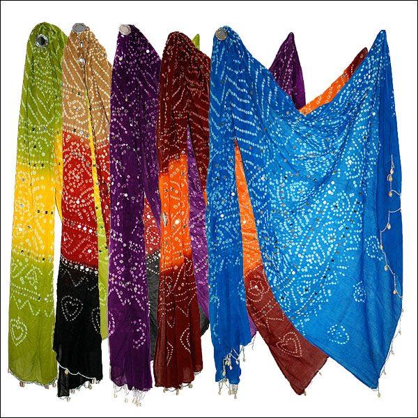 Rajasthani Tie Dye Dupatta Stole
