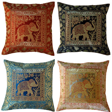 SILK JACQUARD SOFA CUSHIONS