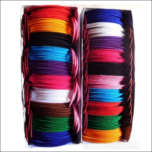 Colourful Wrapped Silk Bangles