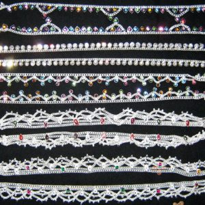 DESIGNER COLORFUL ANKLETS LOT