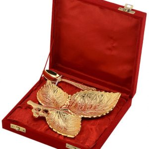 GOLD PLATED DRY FRUIT TRAY