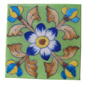 HANDMADE BLUE POTTERY TILES