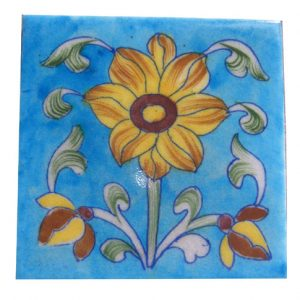 Assorted Blue Pottery Tiles