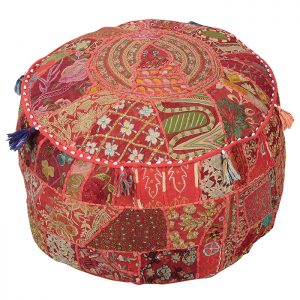 PATCH WORK COTTON OTTOMAN
