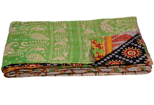KANTHA RECYCLED QUILTS