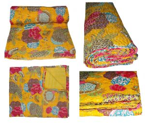FLORAL & FRUIT KANTHA QUILTS