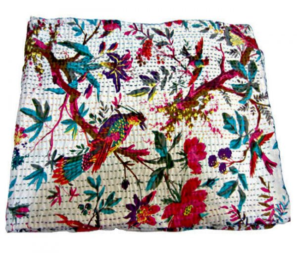 BIRD PARADISE KANTHA QUILTS