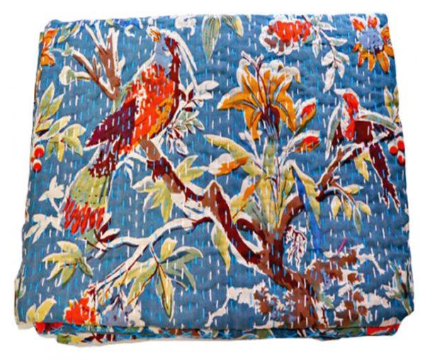 INDIAN BIRD KANTHA QUILTS