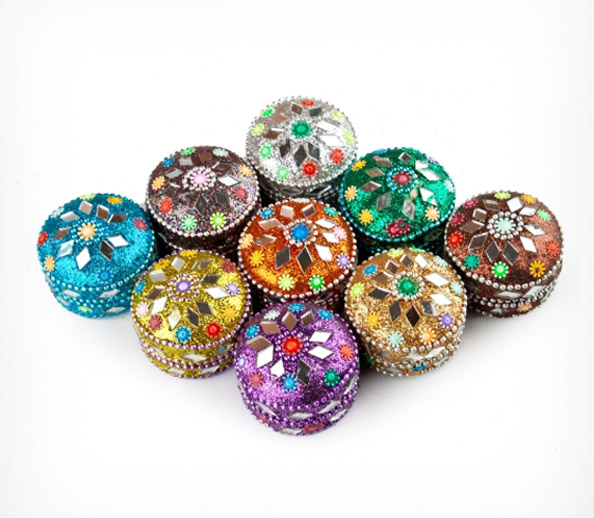 UNIQUE LAC ROUND BOXES
