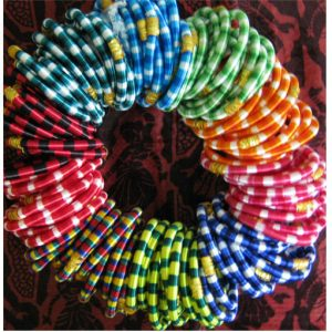 SET OF SILK THREAD BANGLES