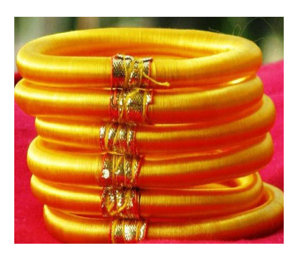 BANGLES IN SILK THREAD
