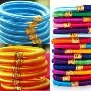 COLORED SILK THREAD BANGLES