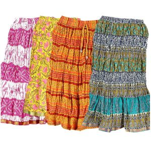 MULTICOLORED COTTON SKIRTS