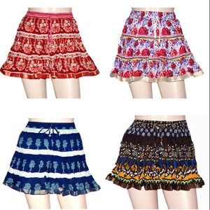 Cotton Boho Block Skirt