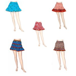 BLOCK PRINTED MINI SKIRTS