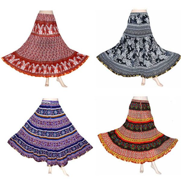 BLOCK PRINTED LONG SKIRTS