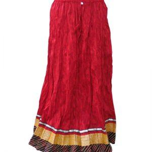 Designer Crinkled Bollywood Skirts