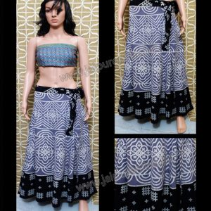 EXCLUSIVE BANDHEJ WRAP SKIRT