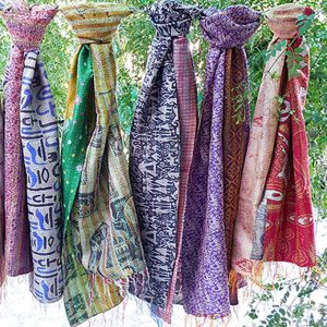 KANTHA WORK SILK STOLE
