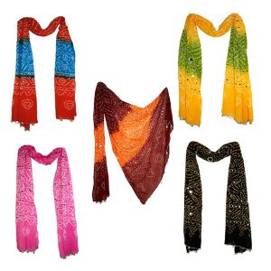 Bandhani Printed Sequins Work Stole