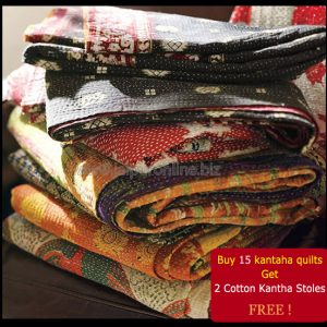 VINTAGE KANTHA QUILTS LOT