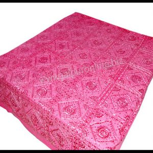 Cotton Bedspread pink Embroidery