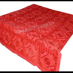 Indian Bedspread Embroidered Cover