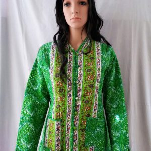 GREEN KANTHA JACKET