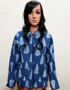 BLUE KANTHA JACKET
