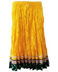 YELLOW DESIGNER SKIRT