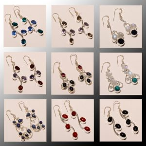 DESIGNER FASHION GEMSTONE EARRINGS