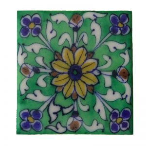 Decorative Green Floral Tiles