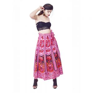 Floral Printed Wrap Skirts