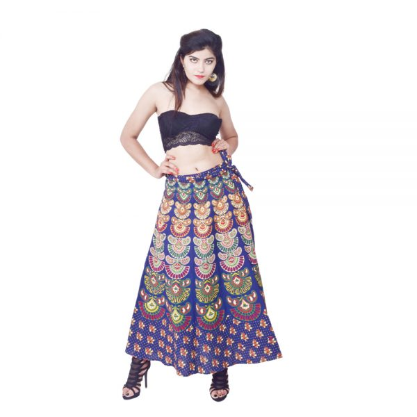 Fancy Printed Wrap Skirts