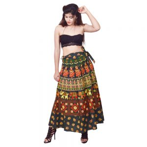 Indian Printed Wrap Skirts