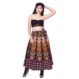 Bandhej Wrap Around Skirt