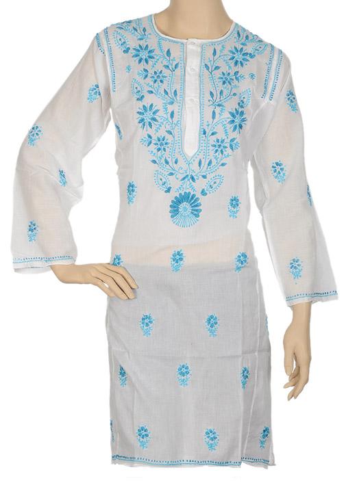 women-embroidered-cotton-long-tunics Long Kurtis