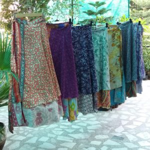reversible silk wrap skirts