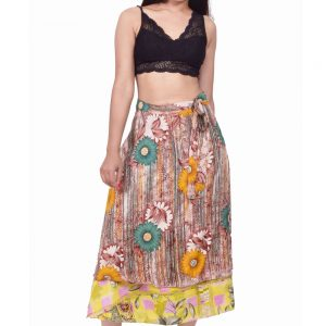 Silk Sari Magic Wrap Skirt