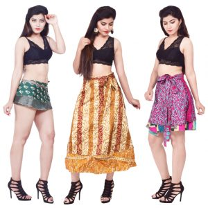 Indian Silk Wrap Skirts