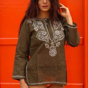 Hand Embroidered Short Tunics Kurtis