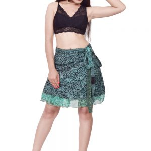 knee length silk wrap skirt
