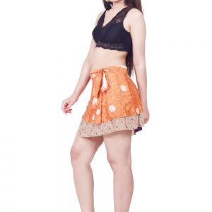 silk short wrap skirt