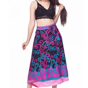 34 inches long silk wrap skirt