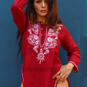 Casual Embroidered Women's Kurtis