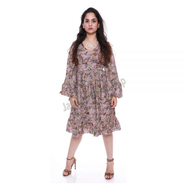 vintage sari silk dress